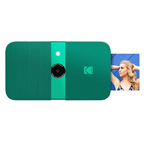 KODAK Smile Digital Sofortbildkamera mit 2x3 ZINK Drucker - HD-Qualität - 10MP, LCD Display, Automatischer Blitz, integrierte Bearbeitungsfunktion, Micro SD Kartenleser und Autofokus - Grün