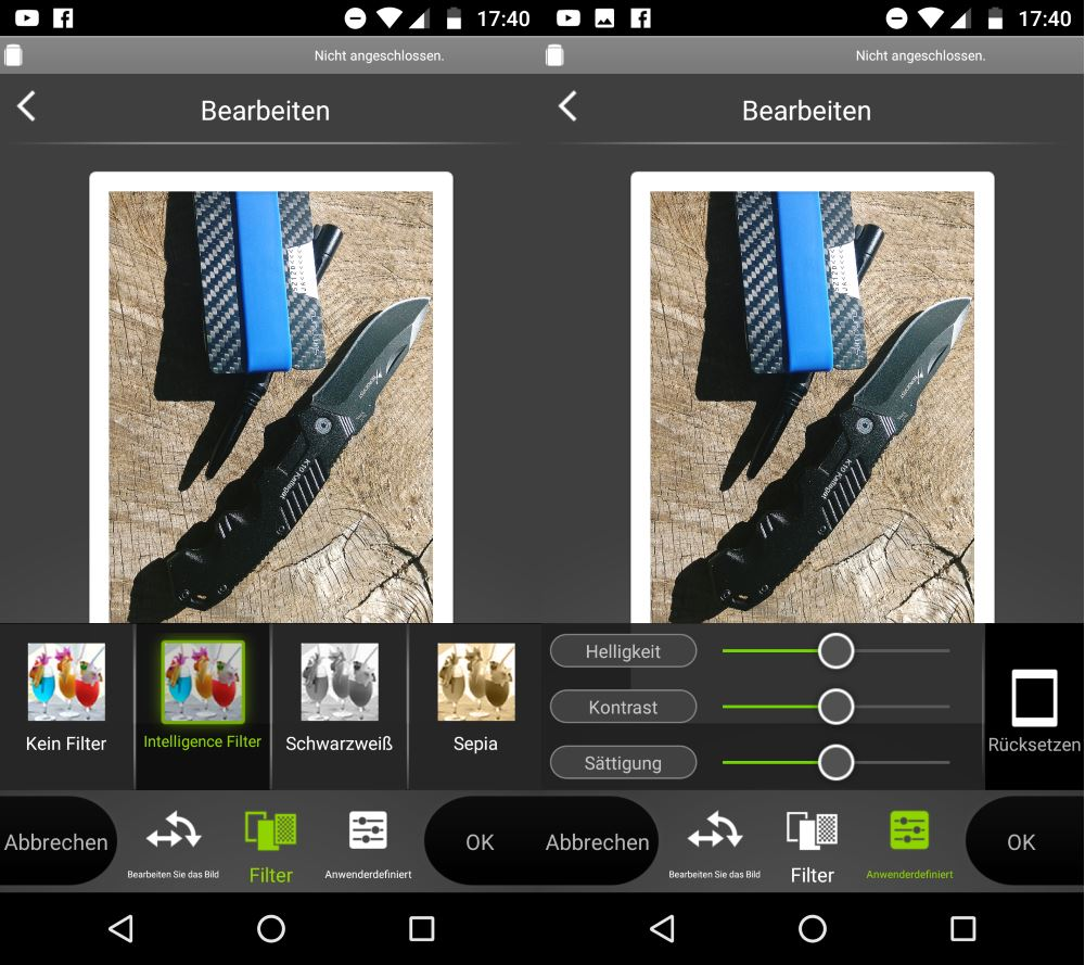 Instax Share App Filter und Bearbeiten