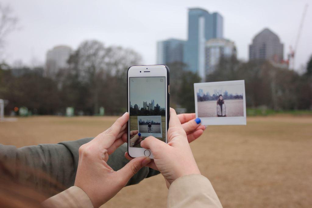 Sofortbild und Smartphone