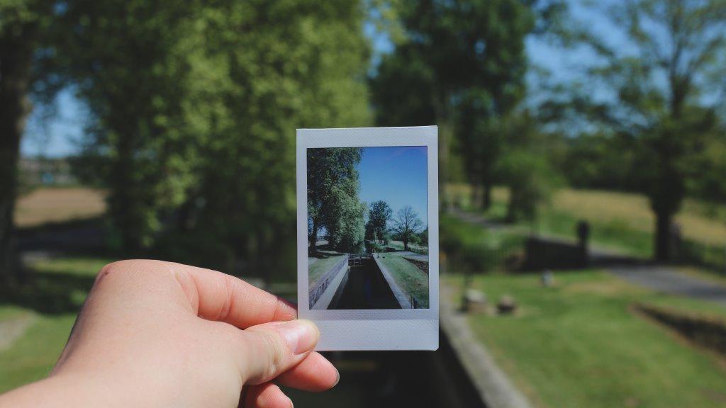 Outdoor Bild aus einer Sofortbildkamera